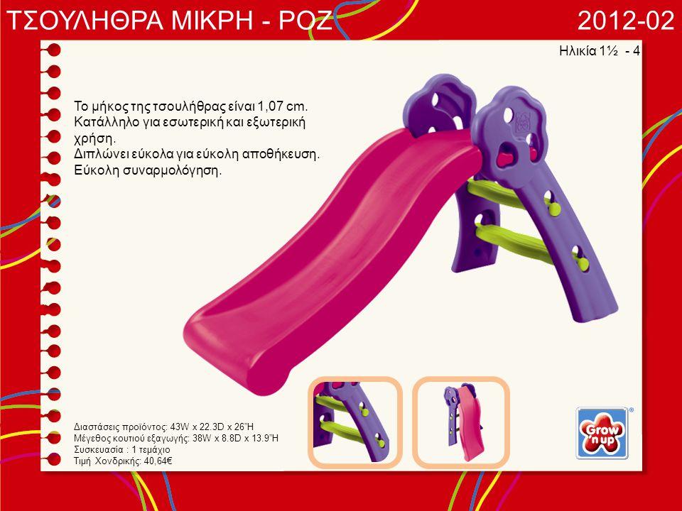 ΤΣΟΥΛΗΘΡΑ ΜΙΚΡΗ - ΡΟΖ 2012-02 Ηλικία 1½ - 4