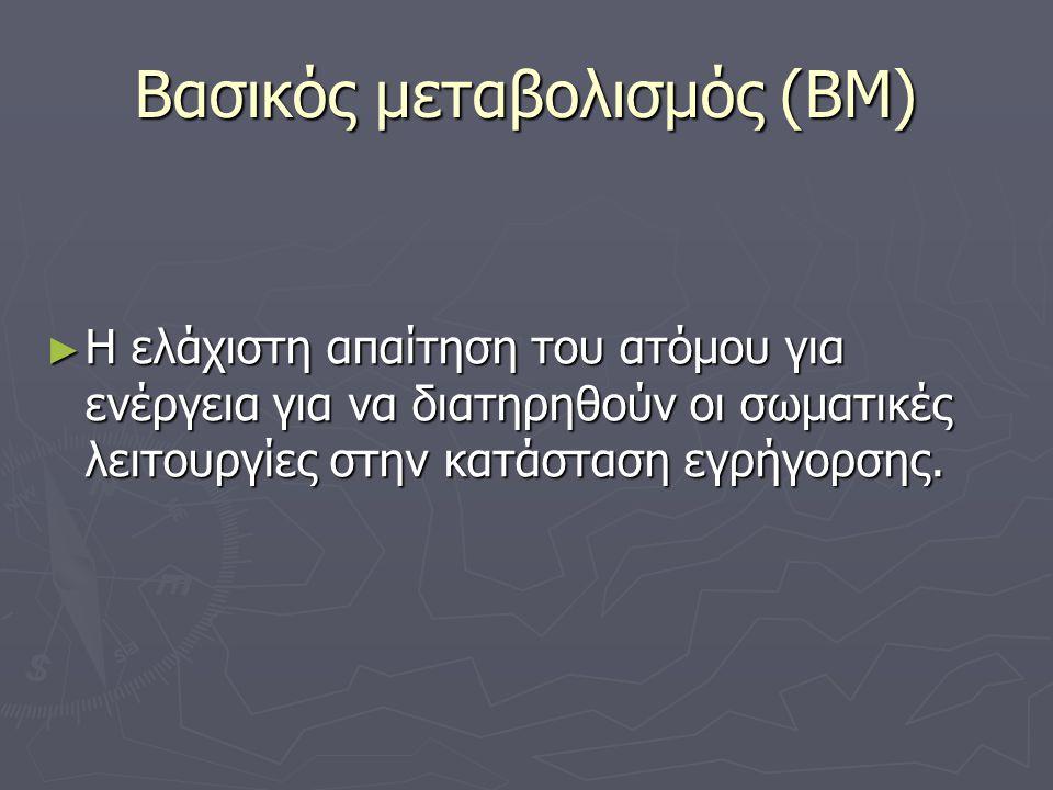 Βασικός μεταβολισμός (ΒΜ)