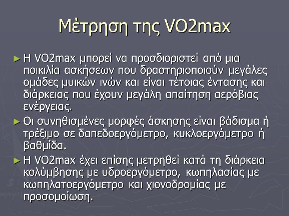 Μέτρηση της VO2max