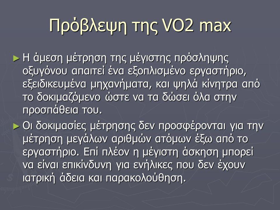 Πρόβλεψη της VO2 max