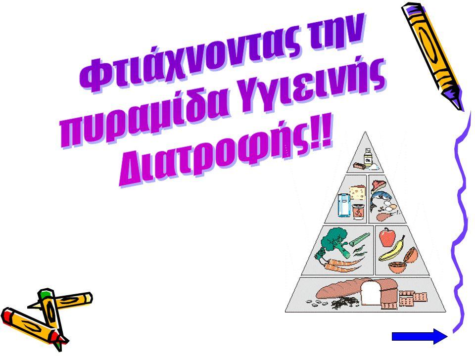 Φτιάχνοντας την πυραμίδα Υγιεινής Διατροφής!!