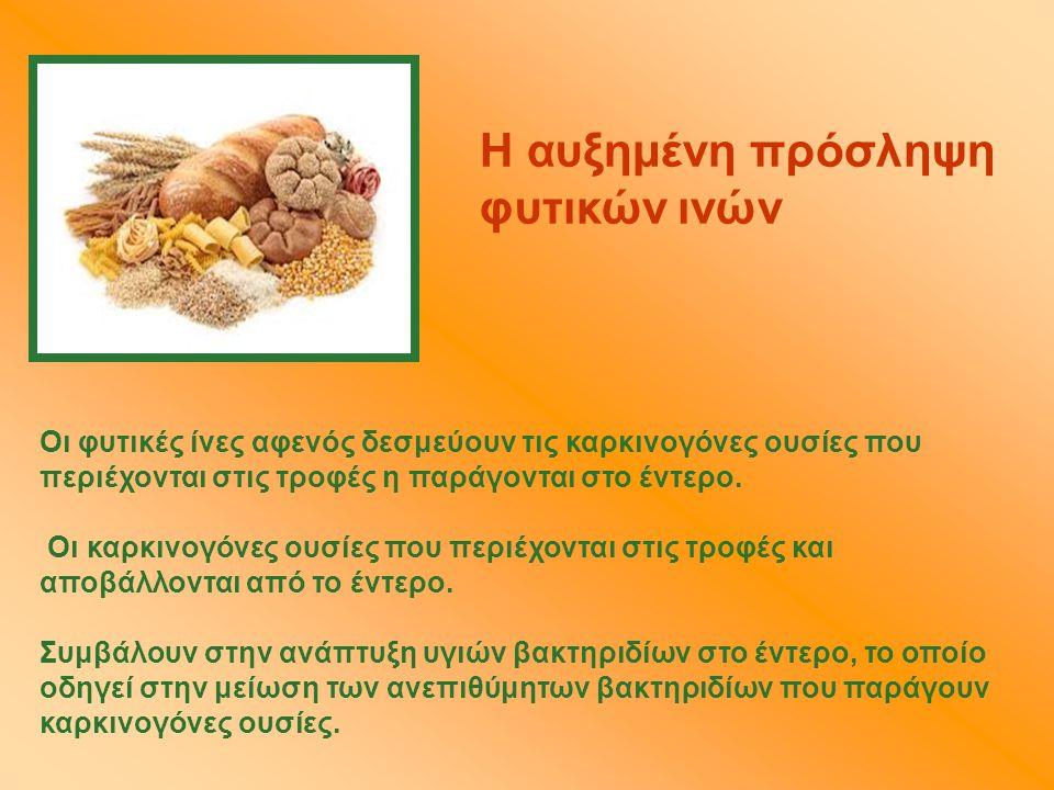 Η αυξημένη πρόσληψη φυτικών ινών