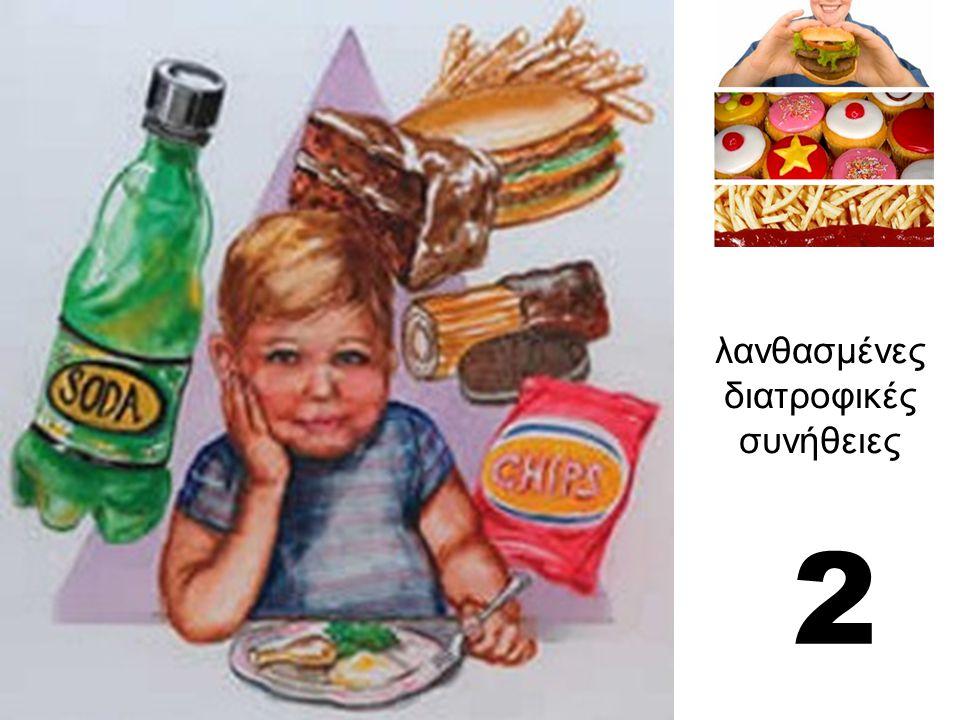 λανθασμένες διατροφικές συνήθειες