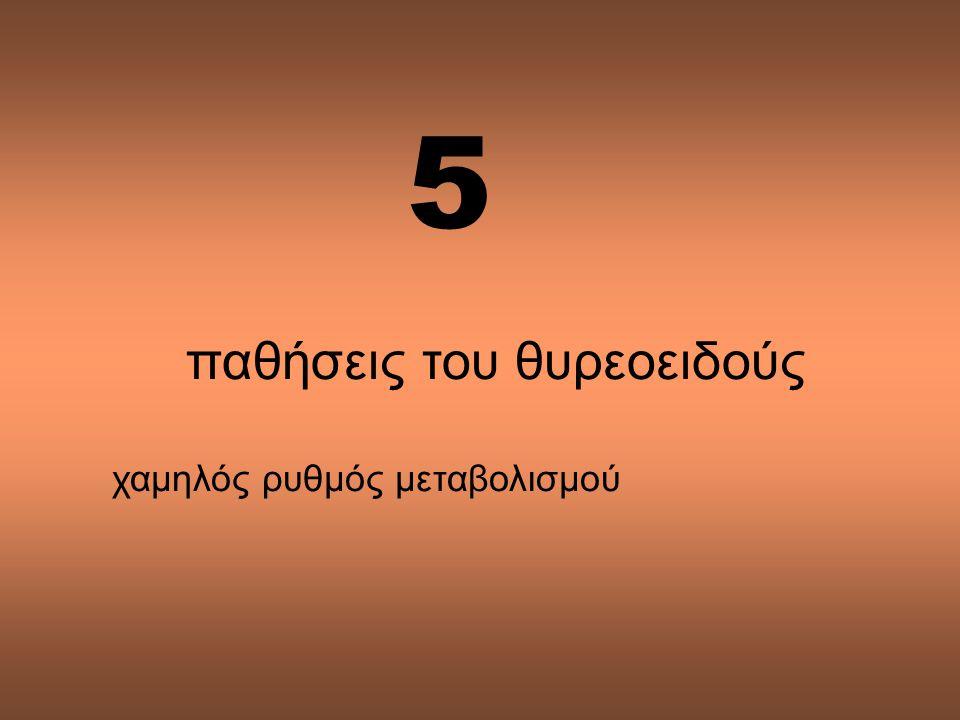5 παθήσεις του θυρεοειδούς χαμηλός ρυθμός μεταβολισμού