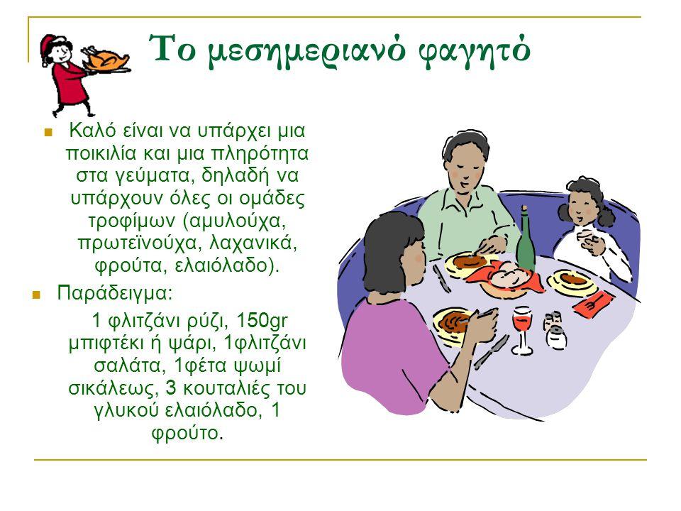 Το μεσημεριανό φαγητό