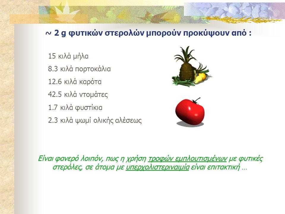 ~ 2 g φυτικών στερολών μπορούν προκύψουν από :