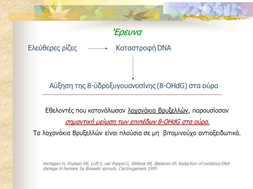 'Ερευνα Ελεύθερες ρίζες Καταστροφή DNA