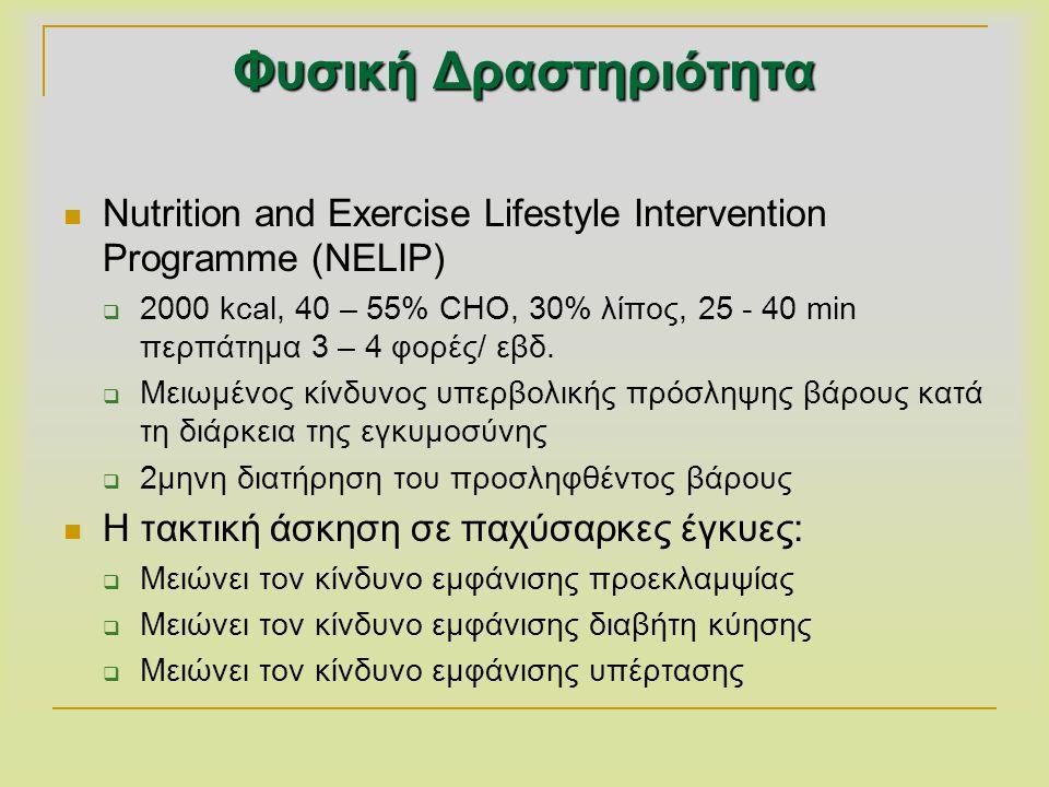 Φυσική Δραστηριότητα Nutrition and Exercise Lifestyle Intervention Programme (NELIP)