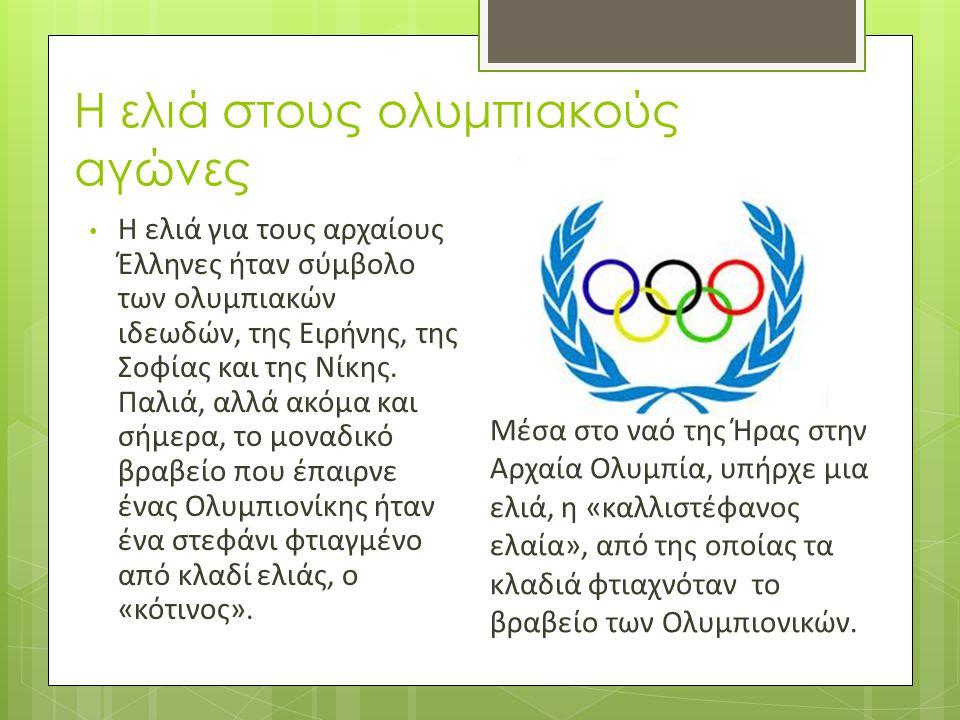 Η ελιά στους ολυμπιακούς αγώνες