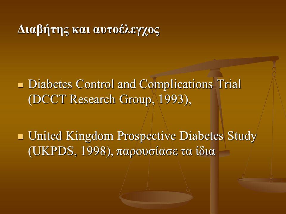 Διαβήτης και αυτοέλεγχος