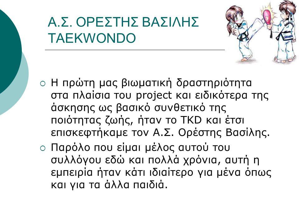 Α.Σ. ΟΡΕΣΤΗΣ ΒΑΣΙΛΗΣ TAEKWONDO