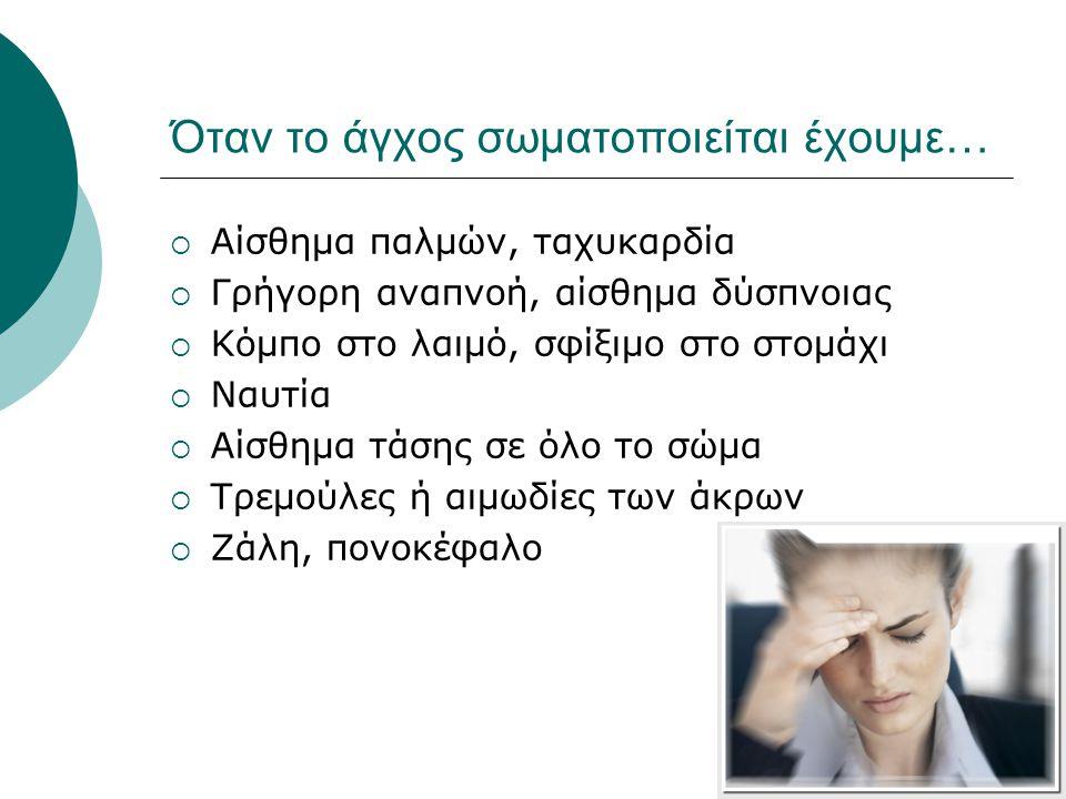 Όταν το άγχος σωματοποιείται έχουμε…