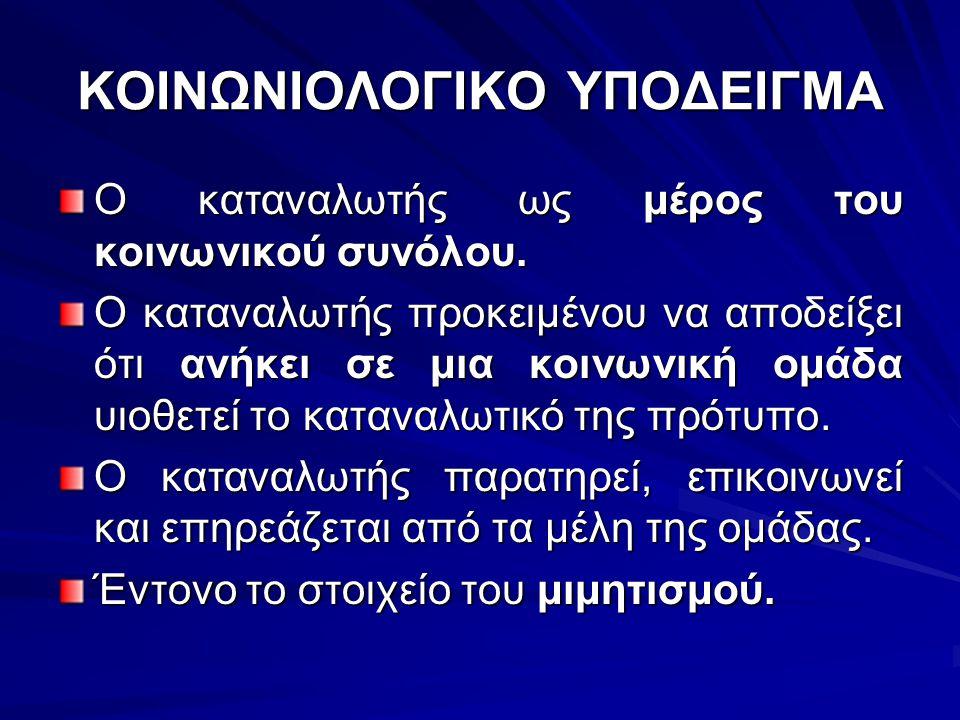 ΚΟΙΝΩΝΙΟΛΟΓΙΚΟ ΥΠΟΔΕΙΓΜΑ