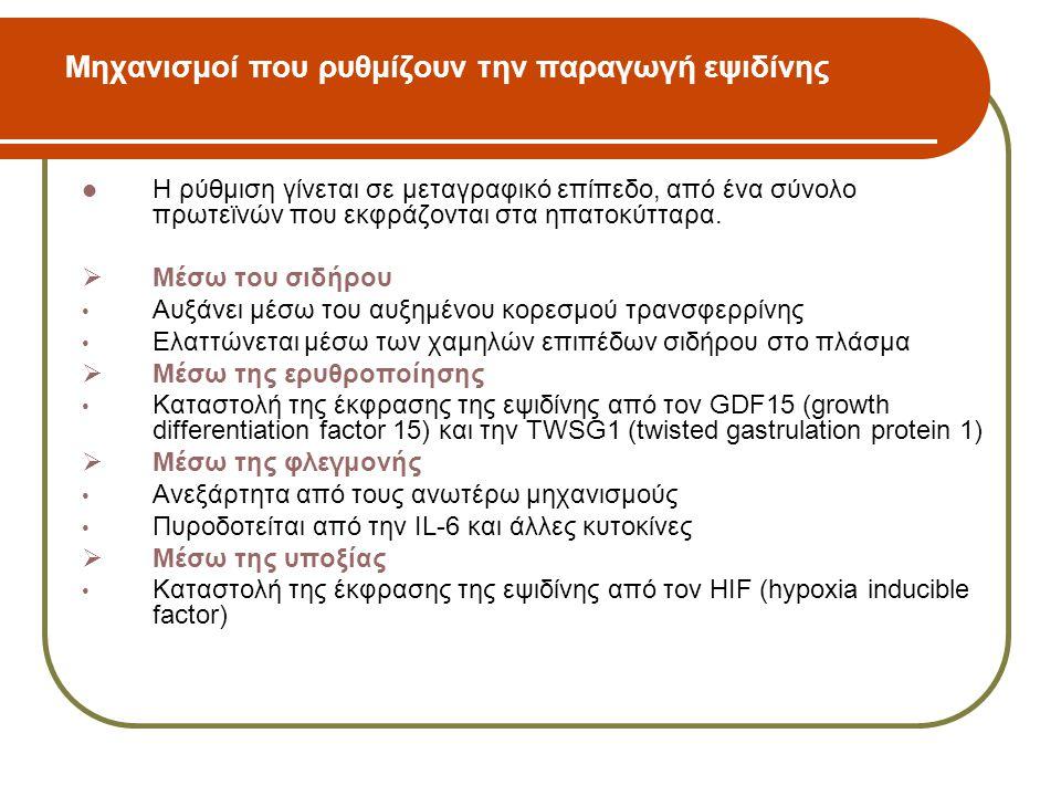 Μηχανισμοί που ρυθμίζουν την παραγωγή εψιδίνης