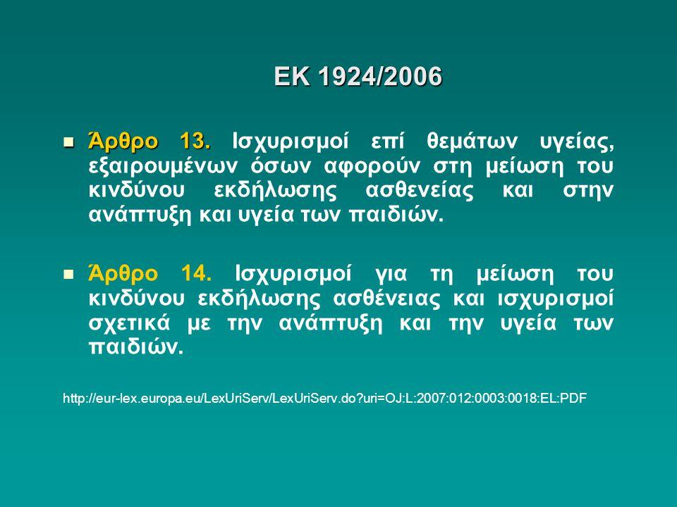 ΕΚ 1924/2006