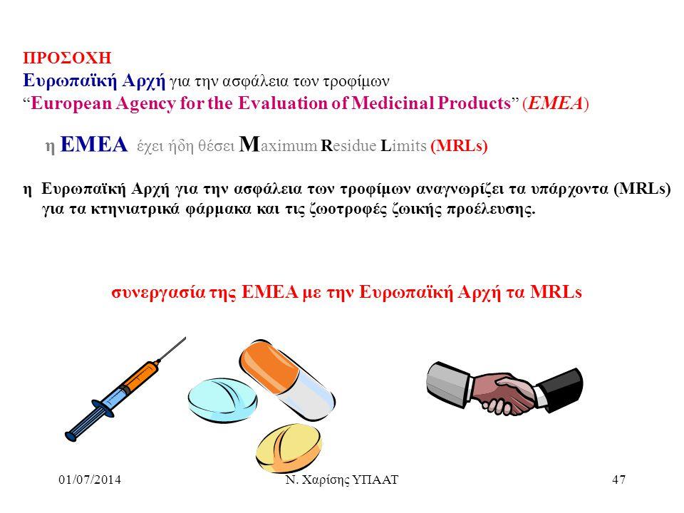 συνεργασία της ΕΜΕΑ με την Ευρωπαϊκή Αρχή τα ΜRLs