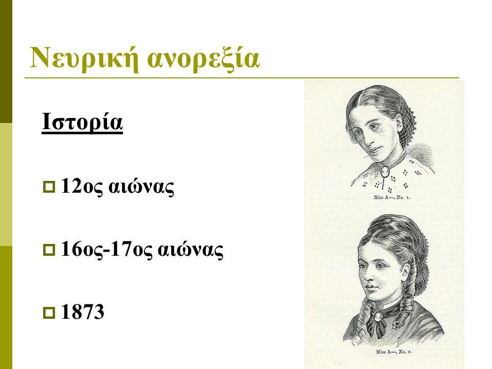 Νευρική ανορεξία Ιστορία 12ος αιώνας 16ος-17ος αιώνας 1873