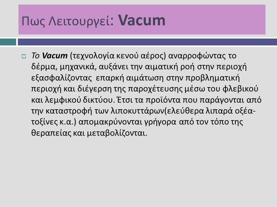 Πως Λειτουργεί: Vacum