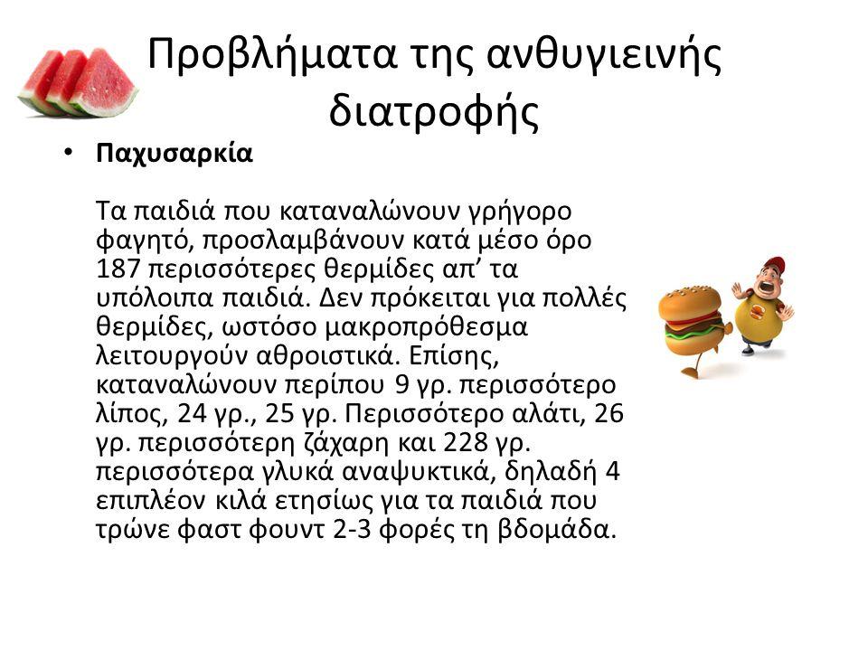 Προβλήματα της ανθυγιεινής διατροφής