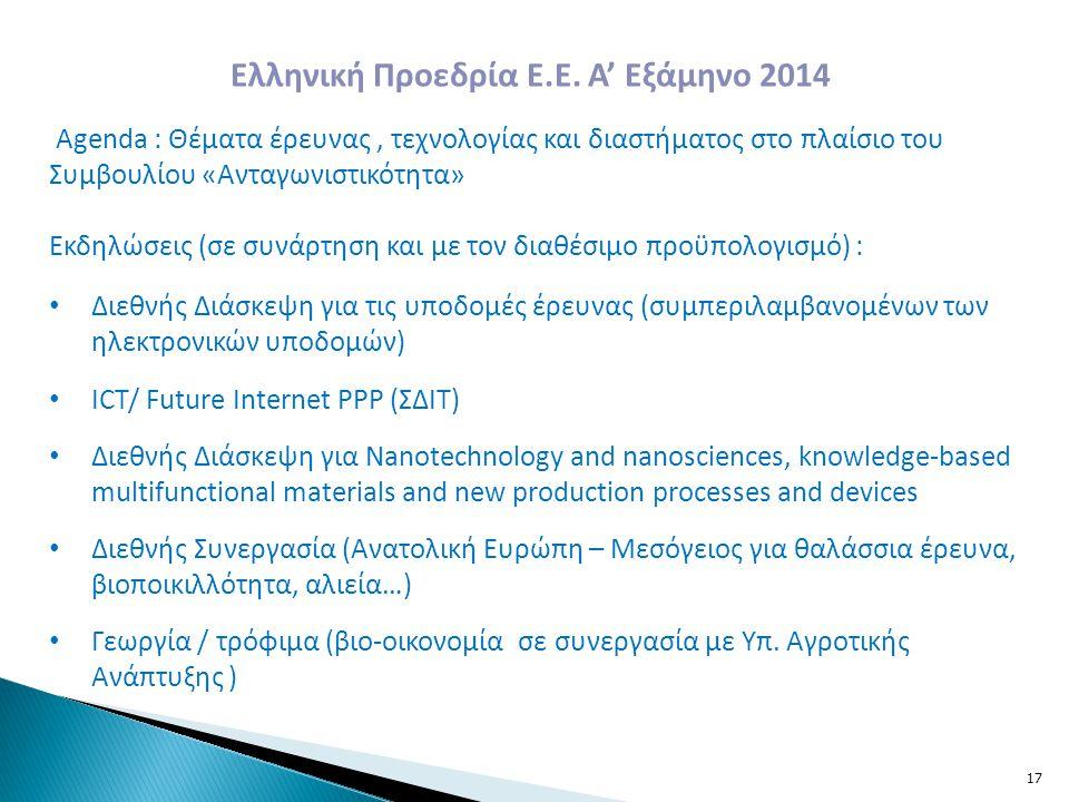 Ελληνική Προεδρία Ε.Ε. Α' Εξάμηνο 2014