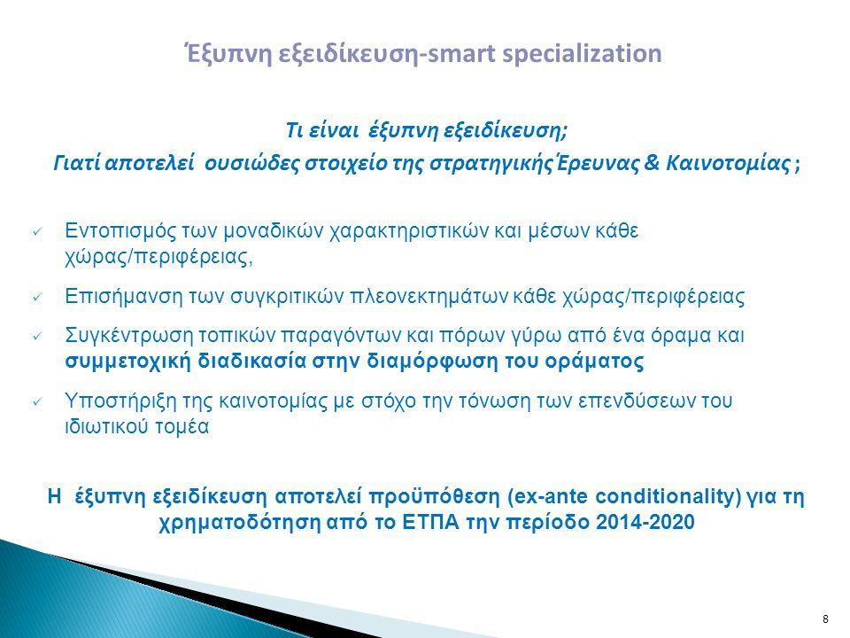 Έξυπνη εξειδίκευση-smart specialization Τι είναι έξυπνη εξειδίκευση;