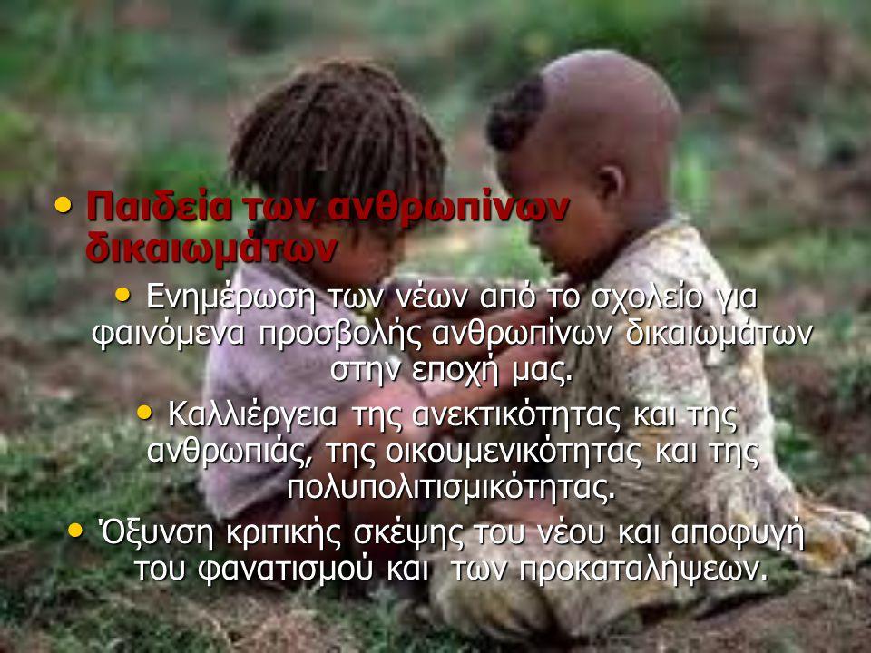 Παιδεία των ανθρωπίνων δικαιωμάτων