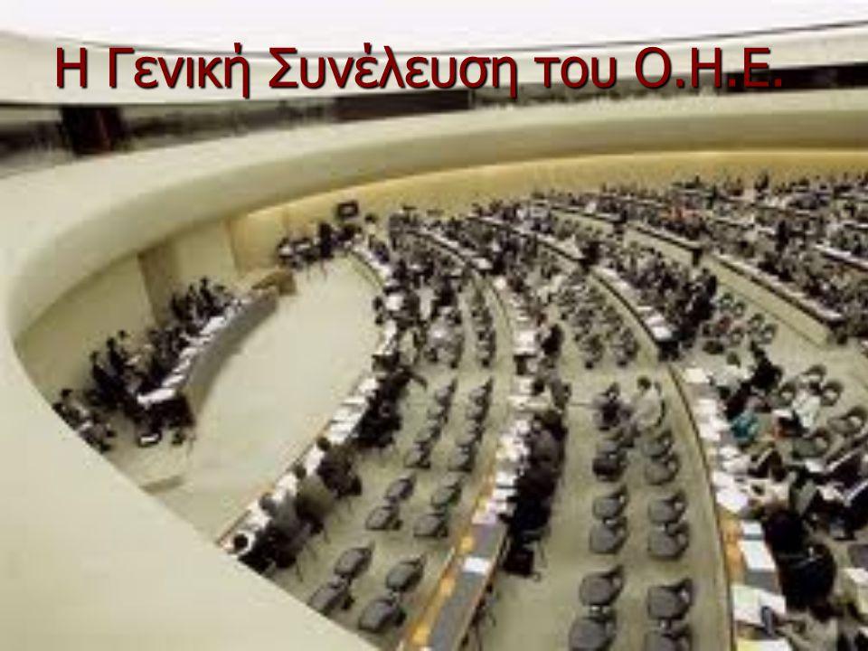 Η Γενική Συνέλευση του Ο.Η.Ε.