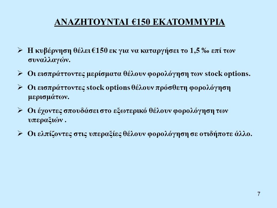 ΑΝΑΖΗΤΟΥΝΤΑΙ €150 ΕΚΑΤΟΜΜΥΡΙΑ