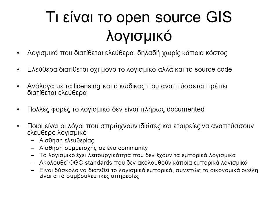 Τι είναι το open source GIS λογισμικό