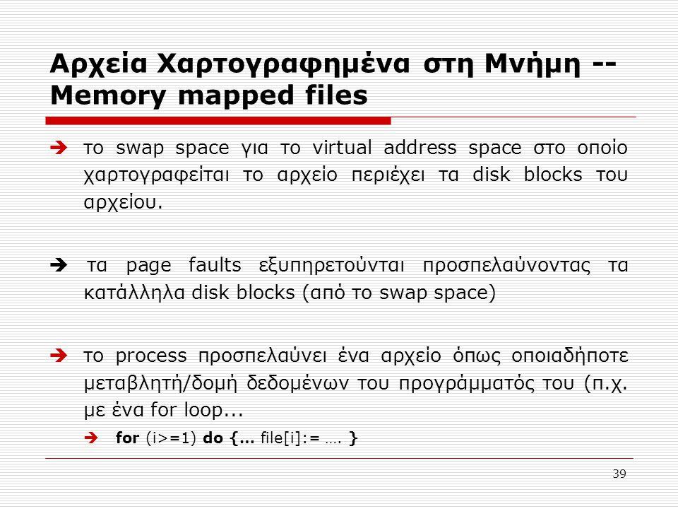 Αρχεία Χαρτογραφημένα στη Μνήμη -- Memory mapped files