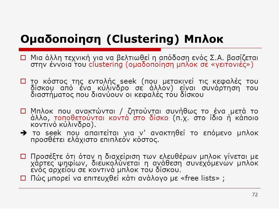 Ομαδοποίηση (Clustering) Μπλοκ