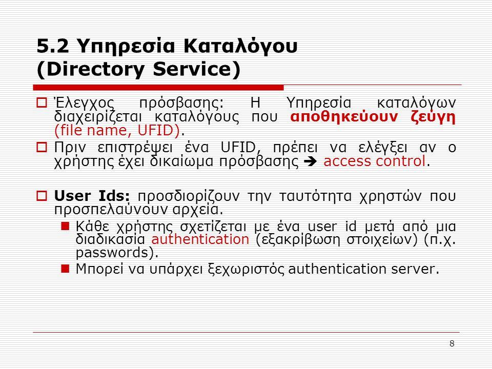 5.2 Υπηρεσία Καταλόγου (Directory Service)