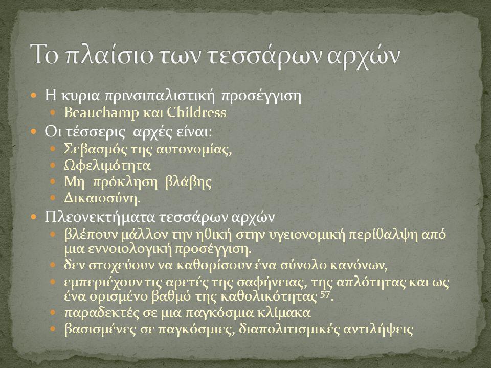 Το πλαίσιο των τεσσάρων αρχών