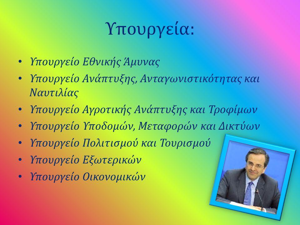 Υπουργεία: Υπουργείο Εθνικής Άμυνας