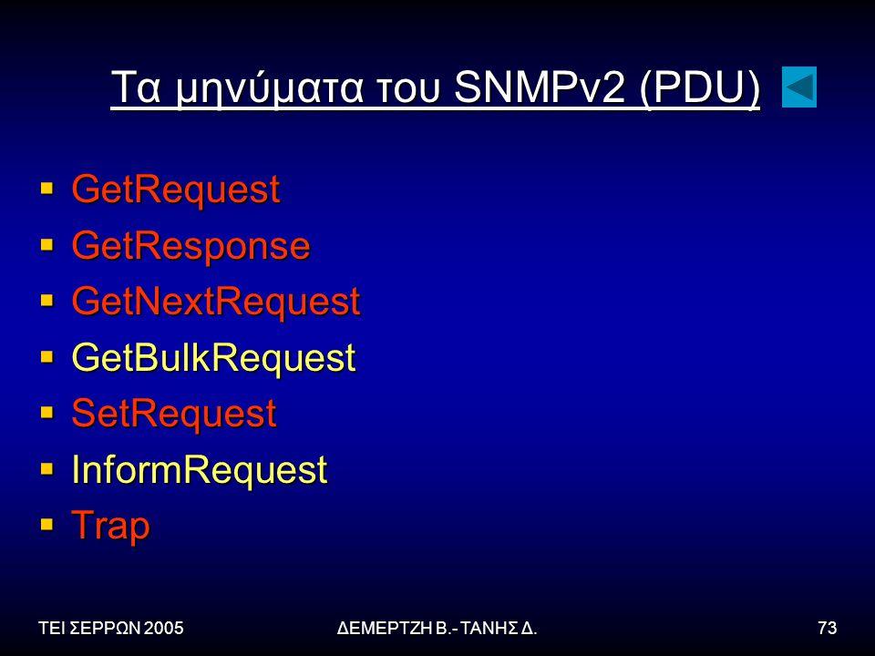 Τα μηνύματα του SNMPv2 (PDU)