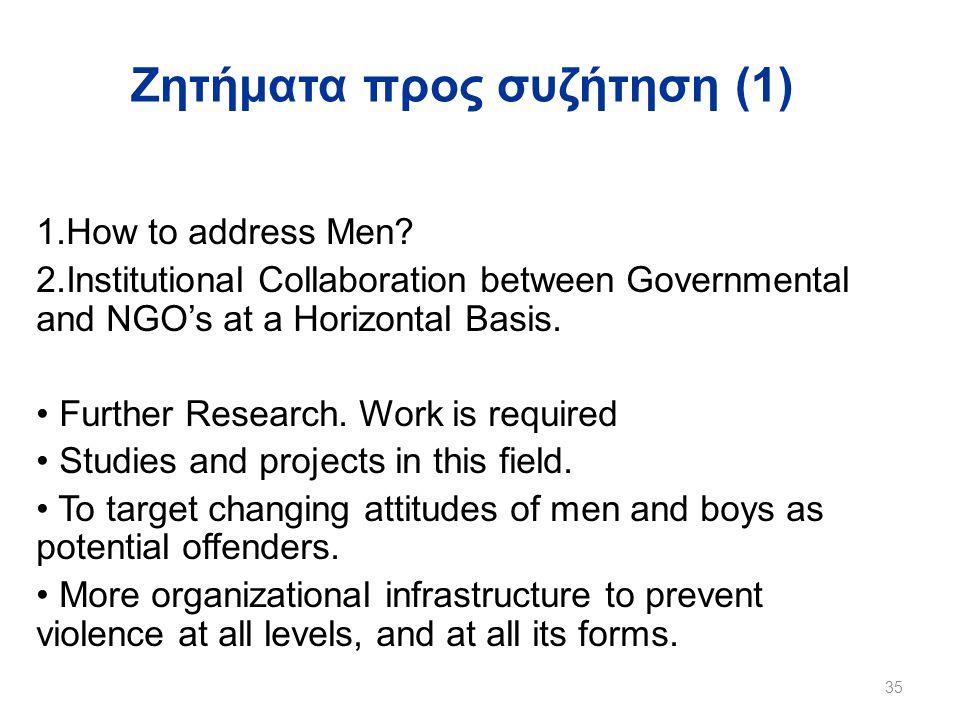 Ζητήματα προς συζήτηση (1)