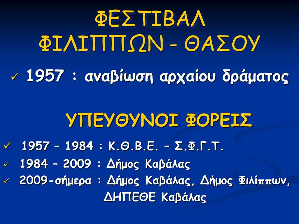 ΦΕΣΤΙΒΑΛ ΦΙΛΙΠΠΩΝ - ΘΑΣΟΥ
