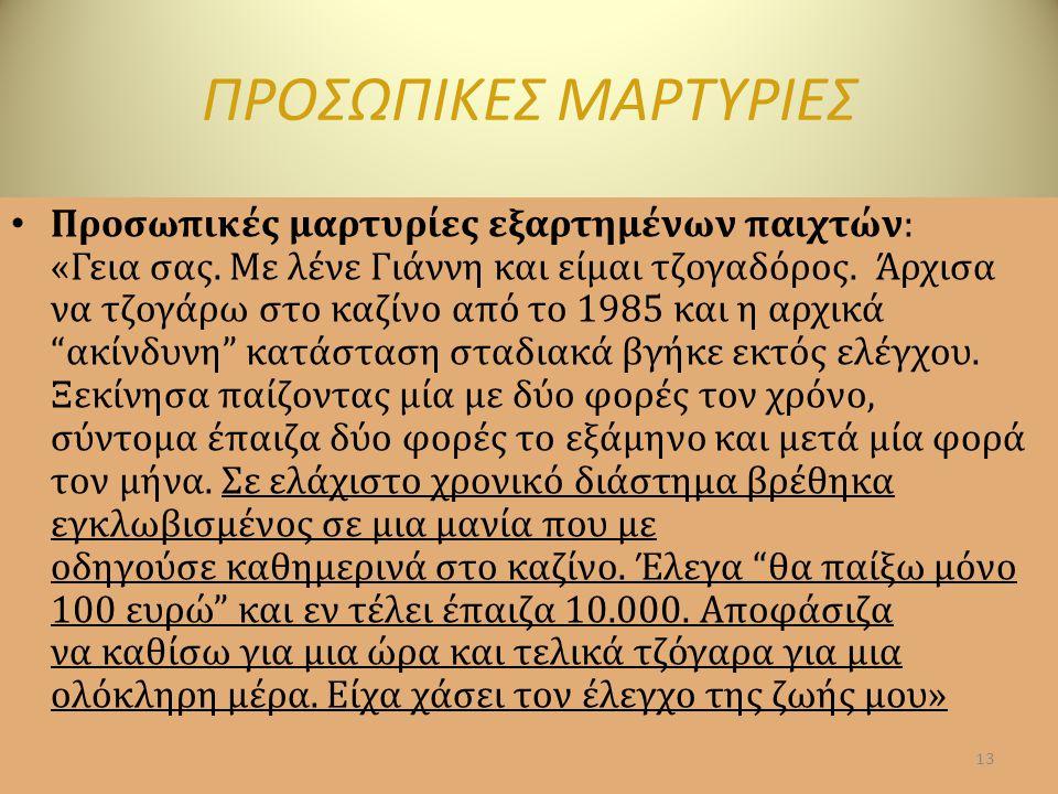 ΠΡΟΣΩΠΙΚΕΣ ΜΑΡΤΥΡΙΕΣ