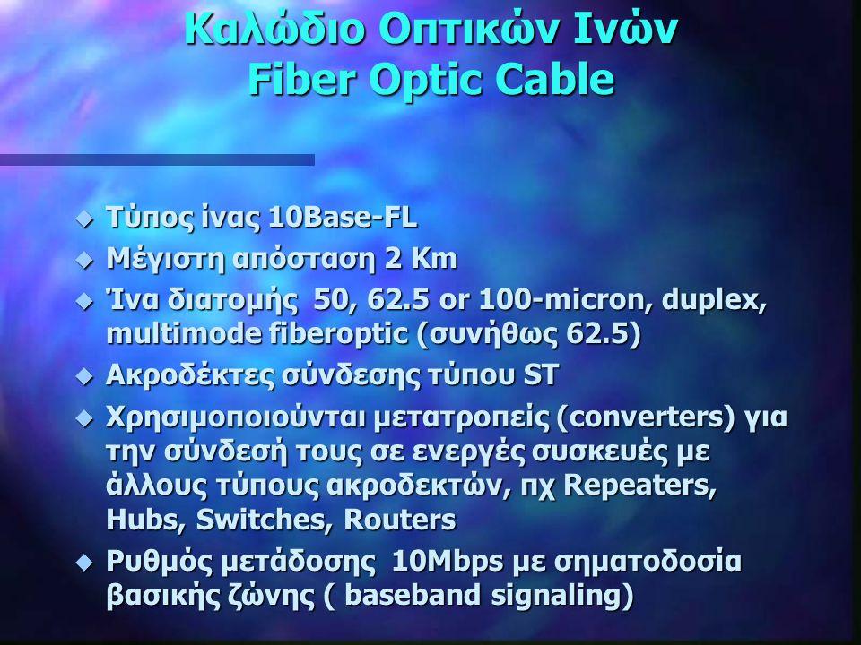 Καλώδιο Οπτικών Ινών Fiber Optic Cable