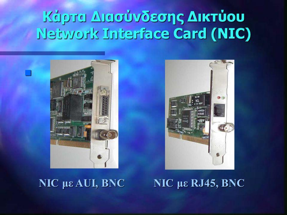 Κάρτα Διασύνδεσης Δικτύου Network Interface Card (NIC)
