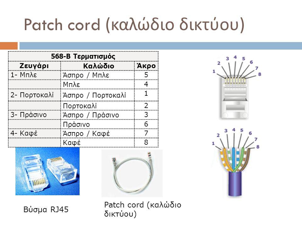 Patch cord (καλώδιο δικτύου)