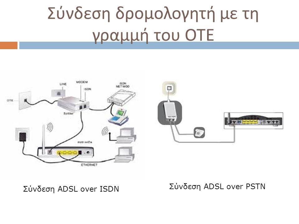 Σύνδεση δρομολογητή με τη γραμμή του ΟΤΕ