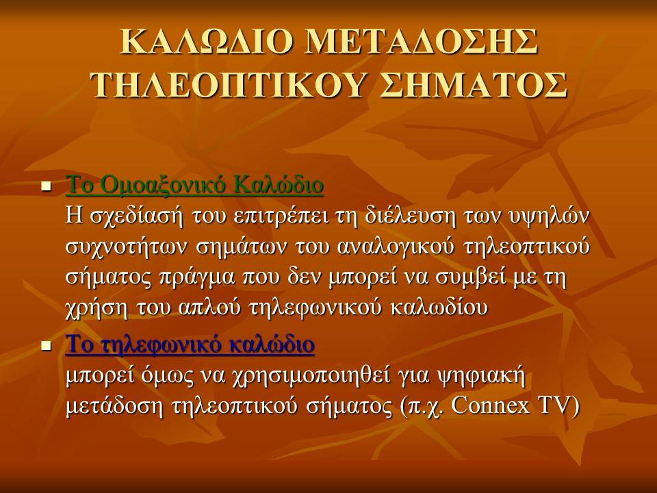 ΚΑΛΩΔΙΟ ΜΕΤΑΔΟΣΗΣ ΤΗΛΕΟΠΤΙΚΟΥ ΣΗΜΑΤΟΣ