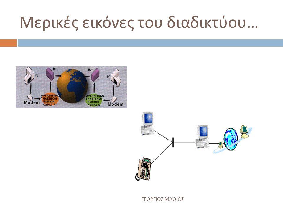 Μερικές εικόνες του διαδικτύου…