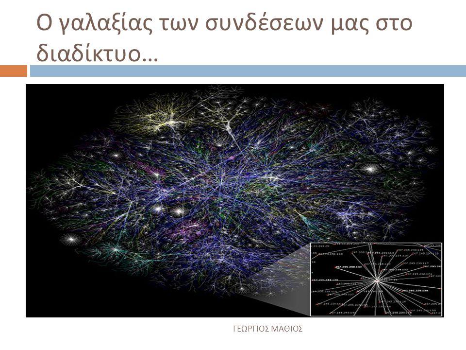 Ο γαλαξίας των συνδέσεων μας στο διαδίκτυο…