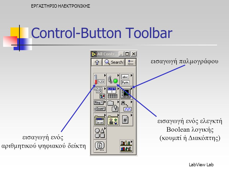 Control-Button Toolbar