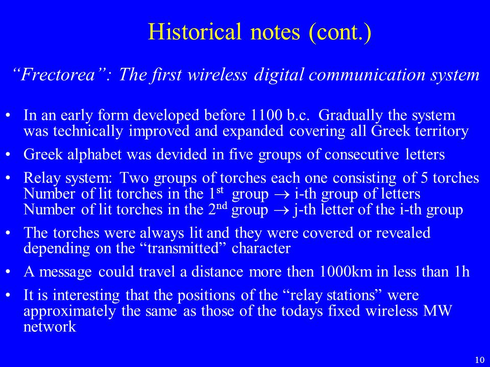 Historical notes (cont.)