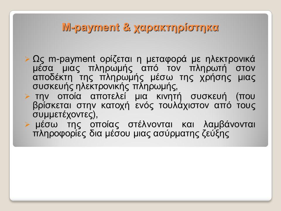 M-payment & χαρακτηρίστηκα