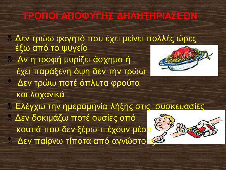 ΤΡΟΠΟΙ ΑΠΟΦΥΓΗΣ ΔΗΛΗΤΗΡΙΑΣΕΩΝ