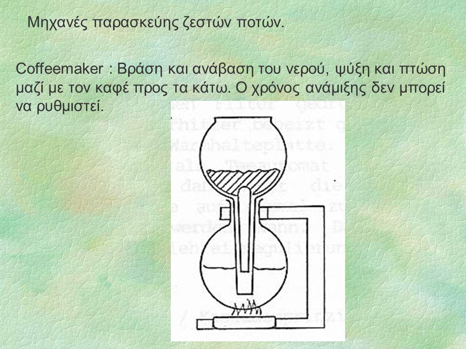 Μηχανές παρασκεύης ζεστών ποτών.